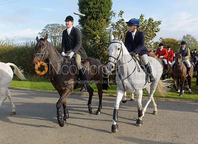 George Ward, Hatty Coney leaving the meet at Long Clawson