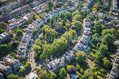 Aerial view of London Brompton Boltons Place