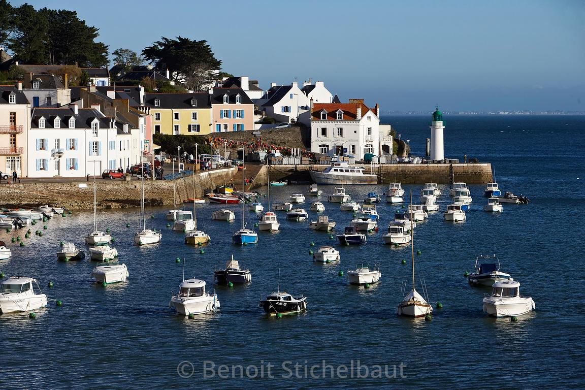 France, Morbihan (56)), Belle-Ile, port de Sauzon