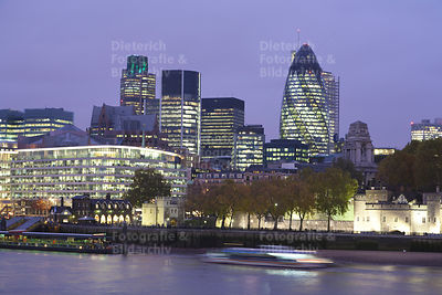 Finanzbezirk The City of London, Themse, London