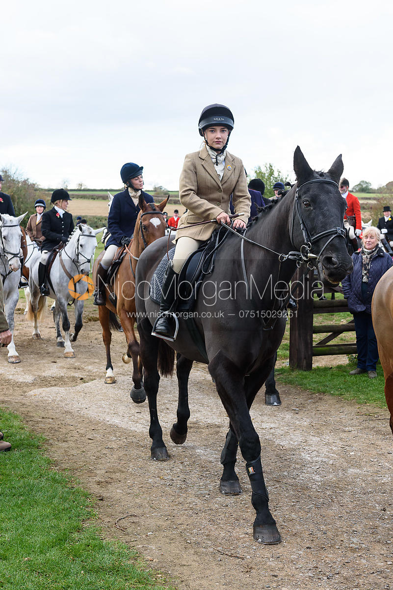 Emily Spence leaving the meet. Quorn Hunt Opening Meet 2018