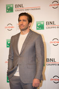 "Jake Gyllenhaal and Jeff Bauman at a photocall for ""Stronger"" at the Rome International Film Festival, , Rome Italy, 28 Oct, ..."