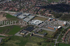 Manchester aerial photograph  of the old Ferranti Electronics factory and Atlas Business Park Simonsway Manchester Airport Wy...