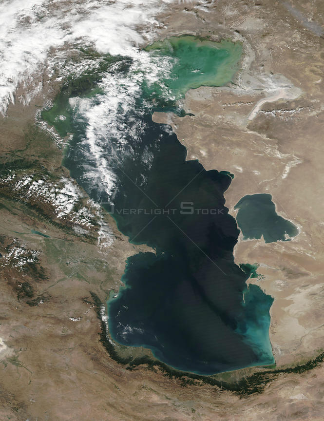 Caspian Sea as seen from Space