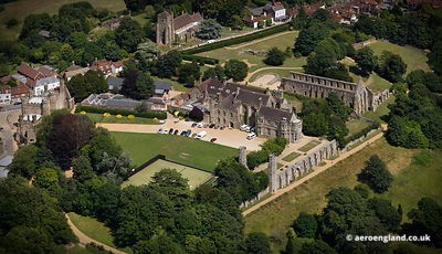 aerial photograph of Battle Abbey East Sussex  England UK