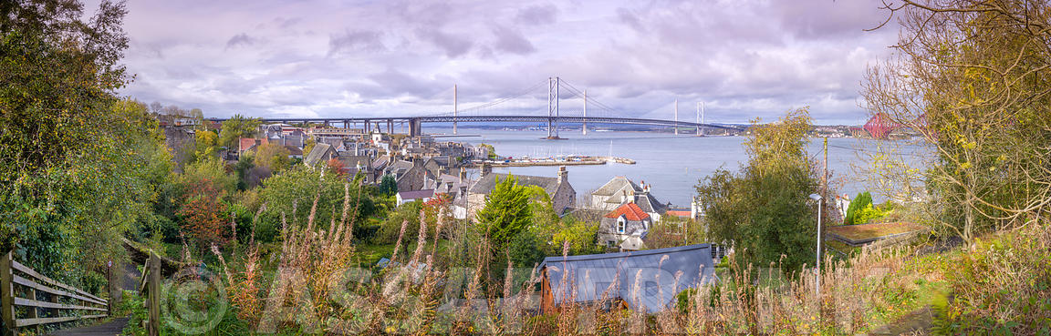 Firth Of Forth rail road bridge, South Queensferry, Scotland