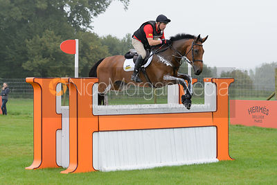 Andrew Heffernan and MILLTHYME COROLLA - cross country phase,  Land Rover Burghley Horse Trials, 6th September 2014.