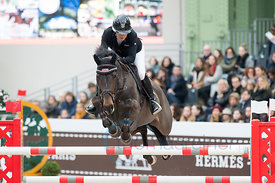 Paris, France, 17.3.2018, Sport, Reitsport, Saut Hermes - PRIX GL Events Bild zeigt Laura RENWICK(GBR) riding MHS Sanfrancisco...17/03/18, Paris, France, Sport, Equestrian sport Saut Hermes - PRIX GL Events. Image shows Laura RENWICK(GBR) riding MHS Sanfrancisco.