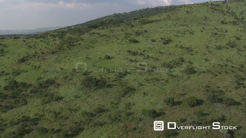Aerial shot over an open piece of land Nelspruit Mpumalanga South Africa