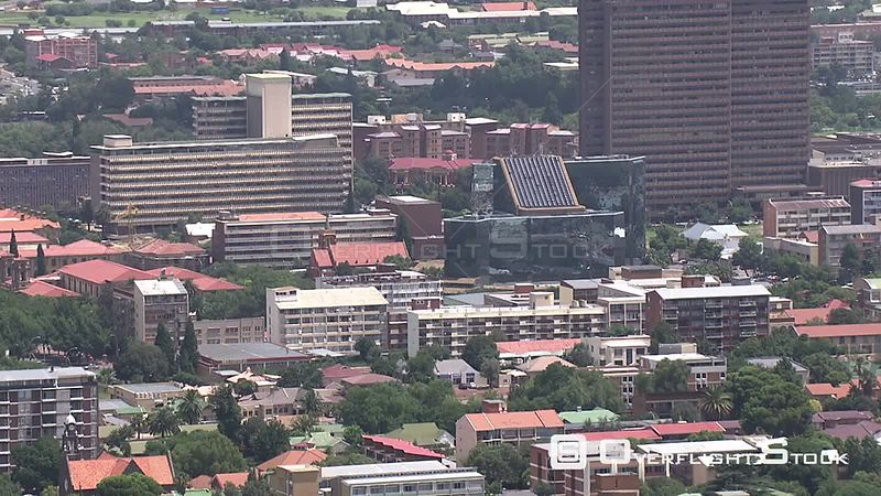 Aerial shot of the city of Bloemfontein Bloemfontein Free State South Africa