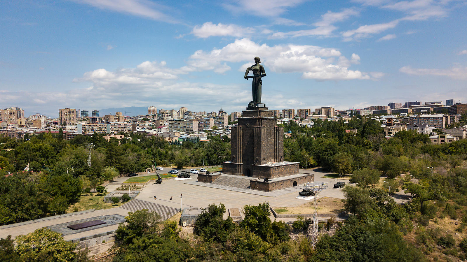 Elevated View of Mother Armenia Statue