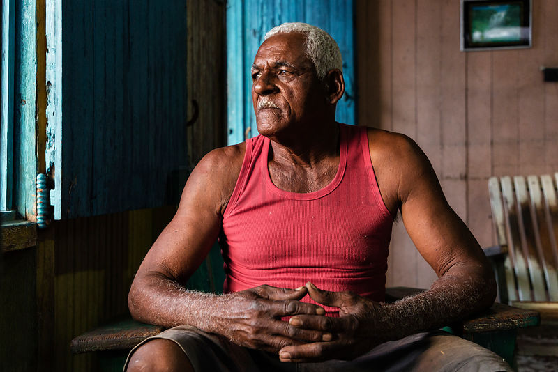 Portrait of a Fisherman in his House on Cayo Granma