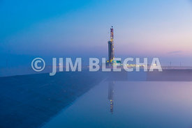 Sunrise Drilling Rig Reflections