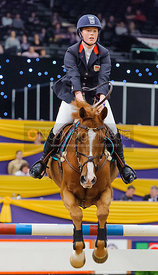 Carian Scudamore and Larino 0087, Horse of the Year Show 2010