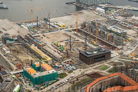 Amsterdam - Luchtfoto nieuwbouw Houthaven