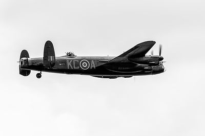 Avro Lancaster PA474 black and white version