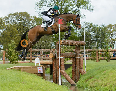 Jim Newsam and MAGENNIS - Cross Country phase, Mitsubishi Motors Badminton Horse Trials 2014