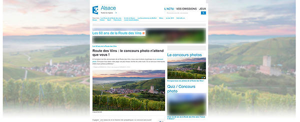Site Internet France 3 Alsace