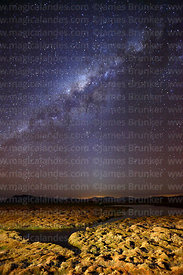 Milky Way Galactic Centre above bofedales near Parinacota village, Lauca National Park, Region XV, Chile