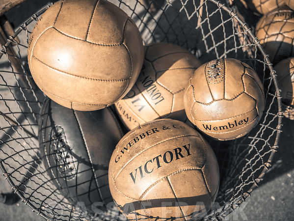 Old fashioned football balls