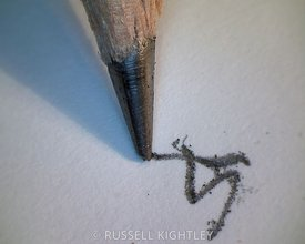 PENCIL: extreme close-up of a pencil tip #2