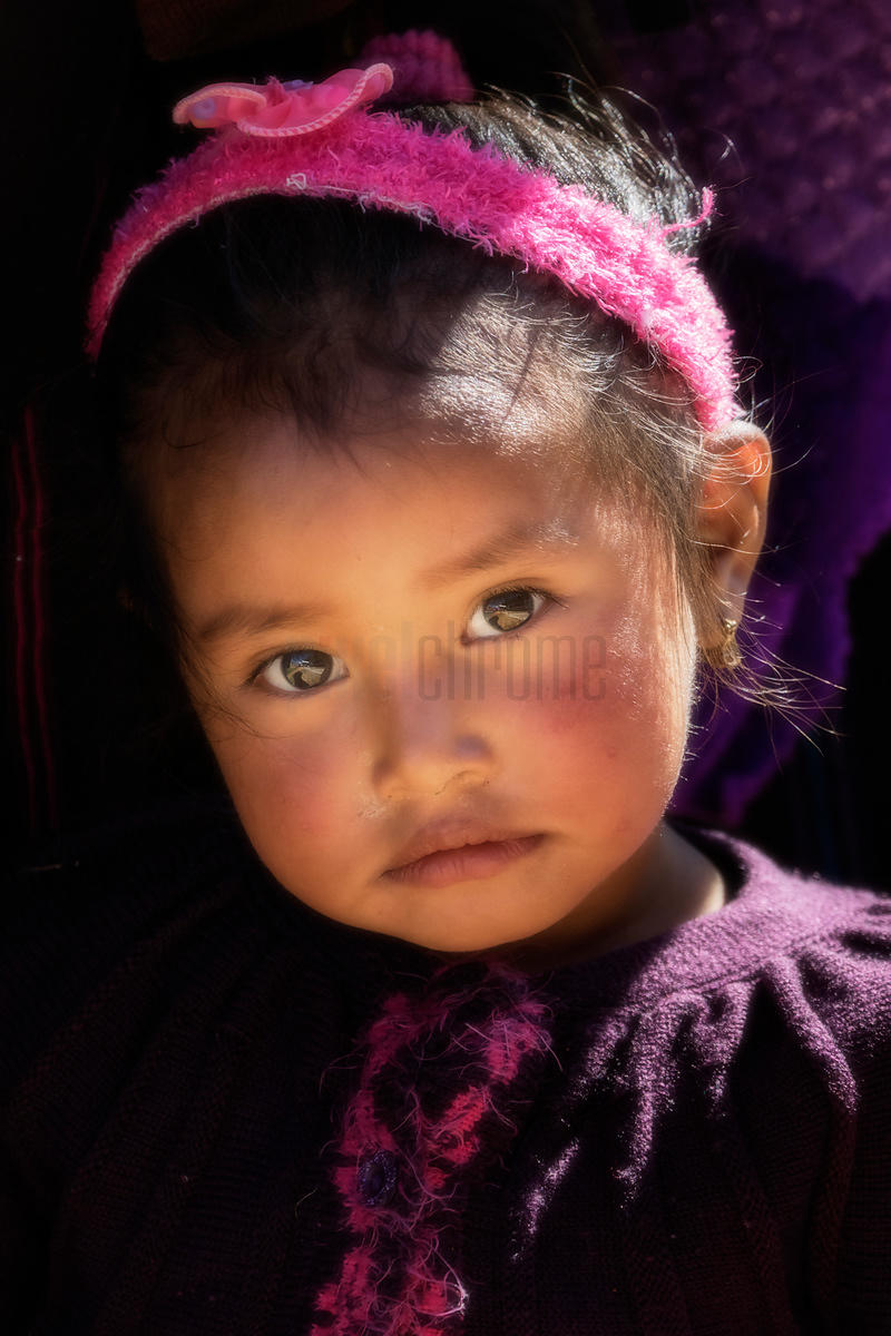 Portrait of a Young Child from Todos Santos Cuchumatán