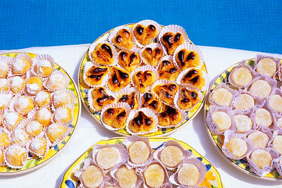 Traditional portuguese sweets (beija-me depressa). Tomar, Portugal