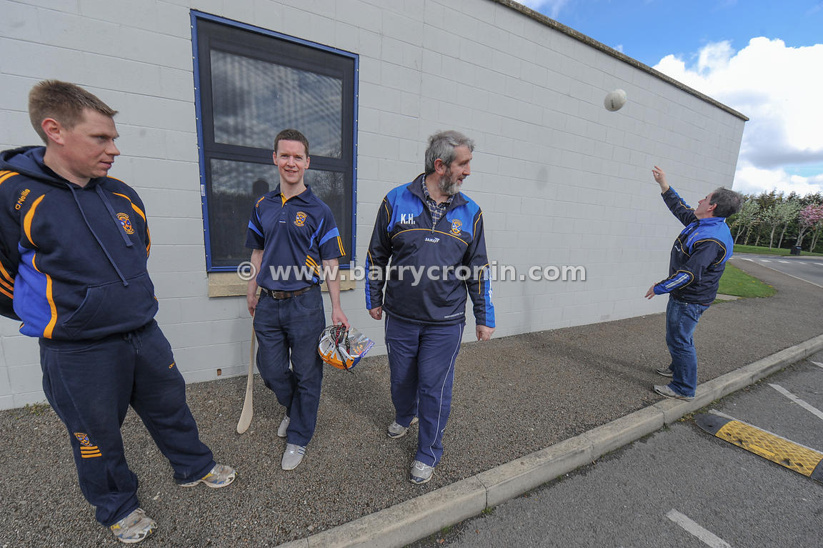 21st April, 2012. Castleknock GFC football nursery, Carpenterstown, Dublin. Pictured from Left: , Brendan Phelan (Games Devel...