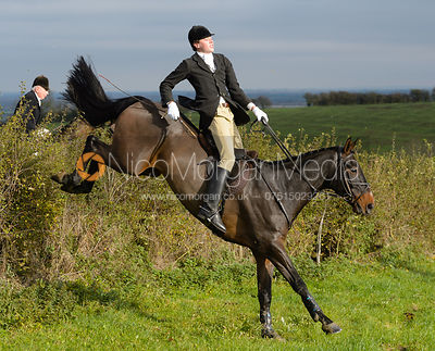 George Ward jumping a hedge near Clawson Thorns