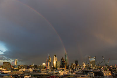Double rainbow over the City of London