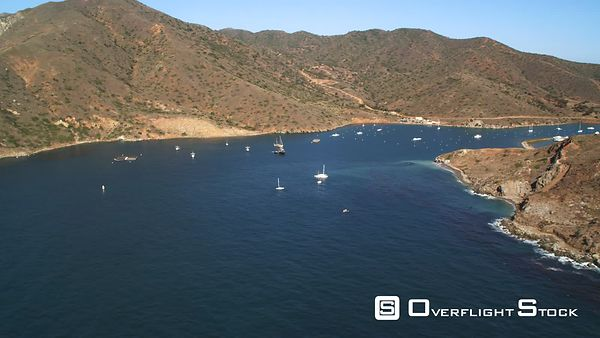 Over Boats in a Harbor on Santa Catalina.