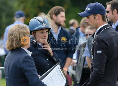 Jock Paget and Gemma Tattersall - show jumping phase, Burghley Horse Trials 2014.