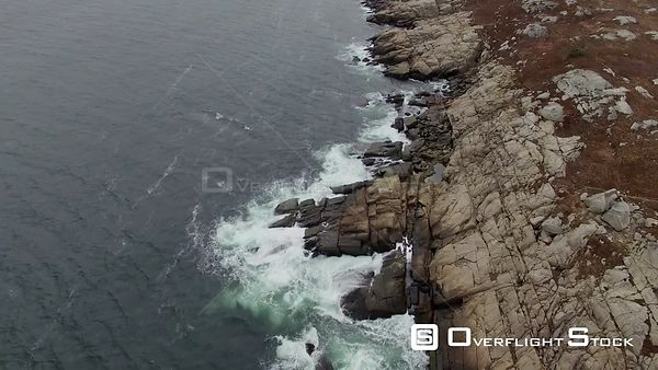 Nova Scotia Canada Halifax Autumn rocks waves Duncans Cove