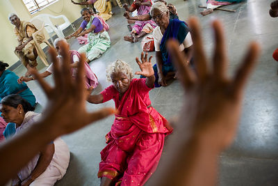 India - Cuddalore - A daily exercise class for residents