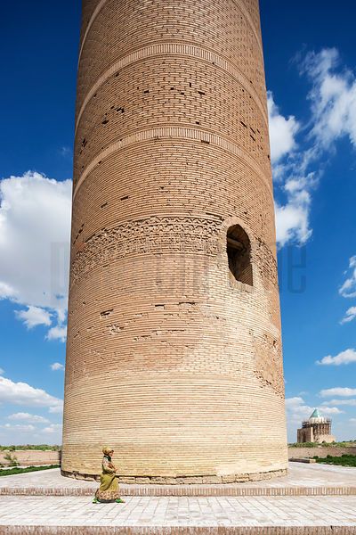 View of Kutlug-Timur Minaret and Tekesh Mausoleum