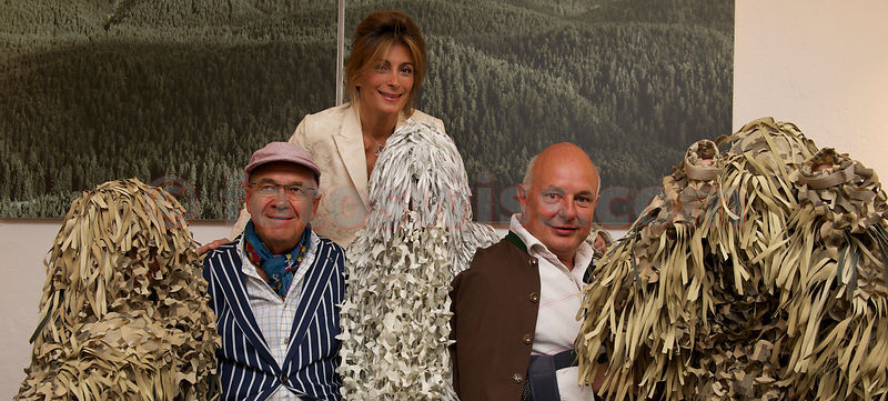"SAM St.Moritz Art Masters 2012 Vernissage of ""Herzschuss"" by Rolf Sachs, Claude Nobs, Maryam Sachs"