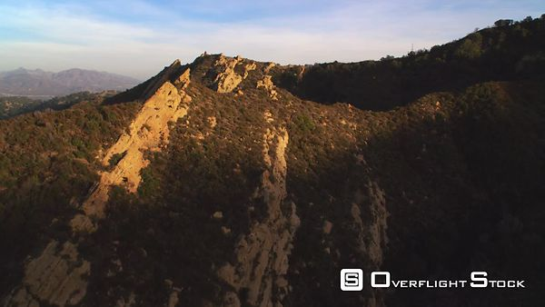 A Close Flight Over Rocky Peaks in the San Gabriel Mountains of California.