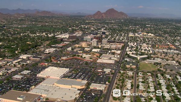 Wide approach to Scottsdale, adjacent to Phoenix.