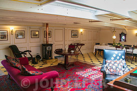 HMS Warrior. Officers Wardroom.