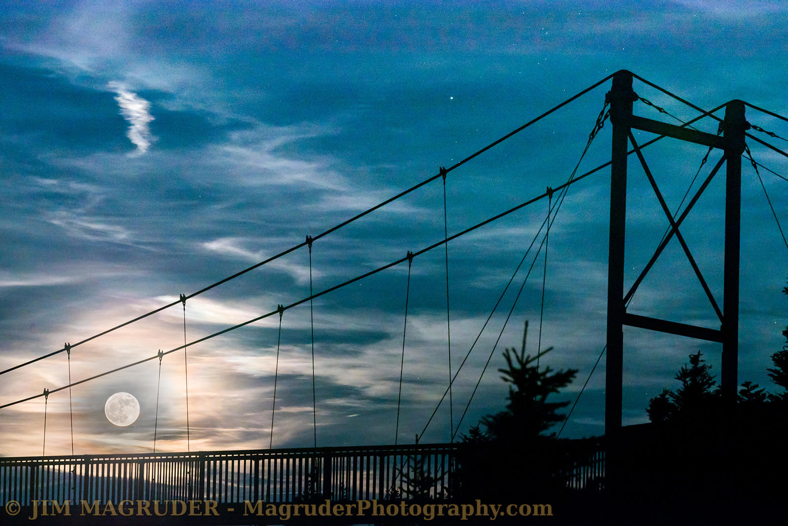 Swinging Bridge Supermoon