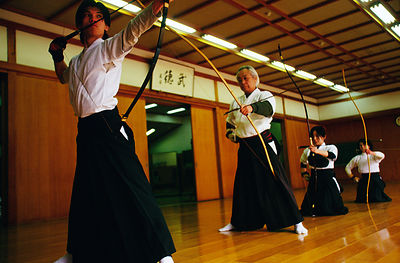 Japan - Kyoto - Kyodo practitioners in the Kyoto dojo