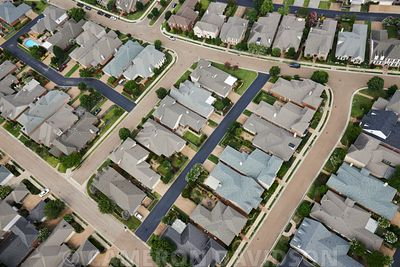 Aerial, Neighborhood, Memphis, Tennessee