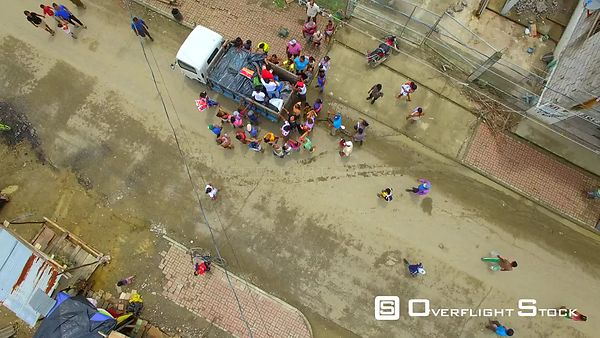 April 16, 2016  Chamanga, Ecuador Earthquake Damage. Aid Relief.