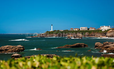 Biarritz - Lighthouse and sea