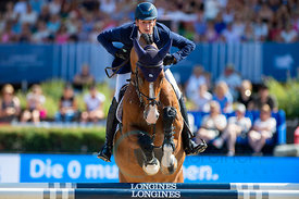 29/07/18, Berlin, Germany, Sport, Equestrian sport Global Jumping Berlin - Championat der DKB von Berlin -   Image shows DEUS...