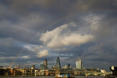 Rainbow over the City of London