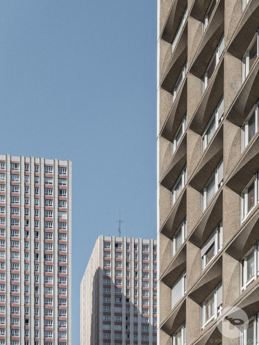 Architecture photographer - Les Olympiades district by architect and urban planner Michel Holley, completed in 1972, Paris, F...