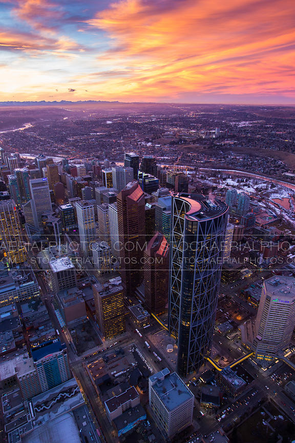 Downtown Calgary, Chinook Sunset