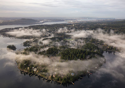 Deep Cove North Vancouver Covered in Clouds.