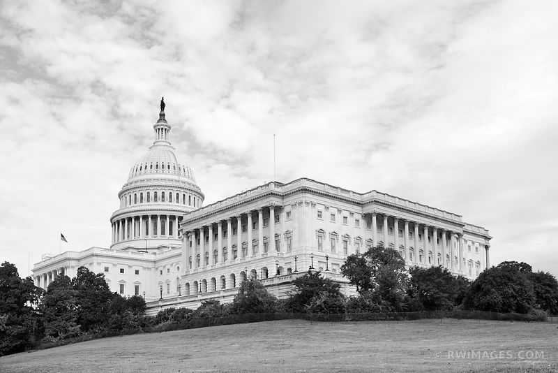 CAPITOL HILL US CAPITOL WASHINGTON DC BLACK AND WHITE